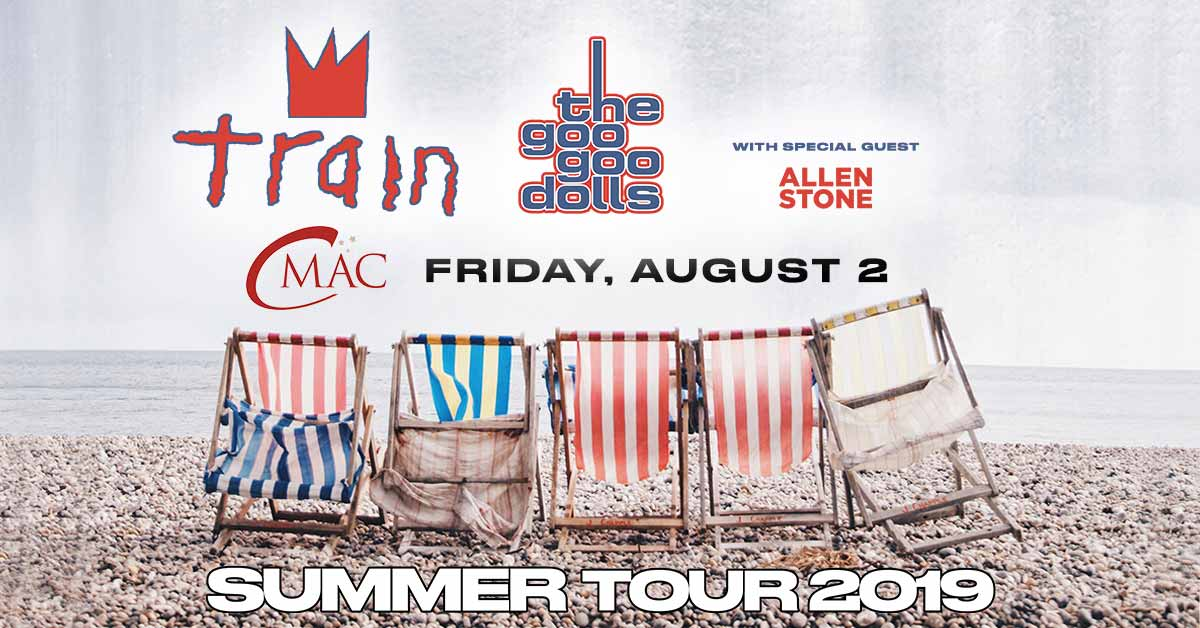 CMAC upcoming event: Train & The Goo Goo Dolls