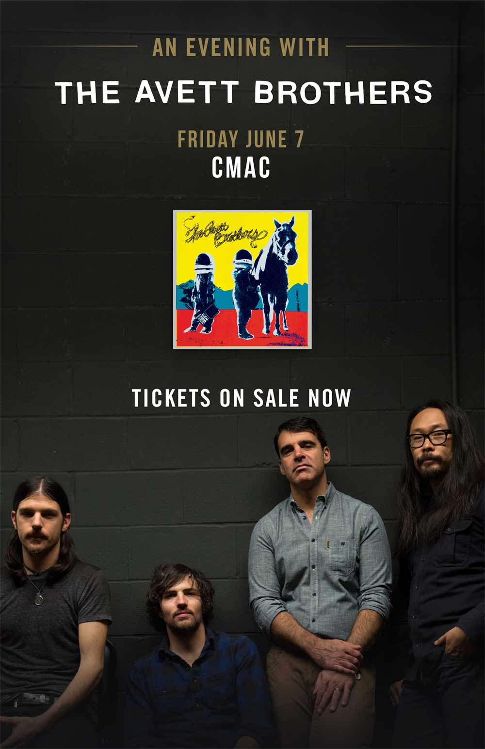 Avett Brothers show announcement