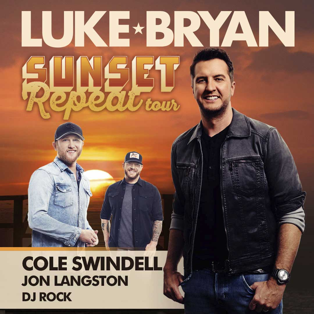 luke bryan sunset repeat tour cole swindell jon langston