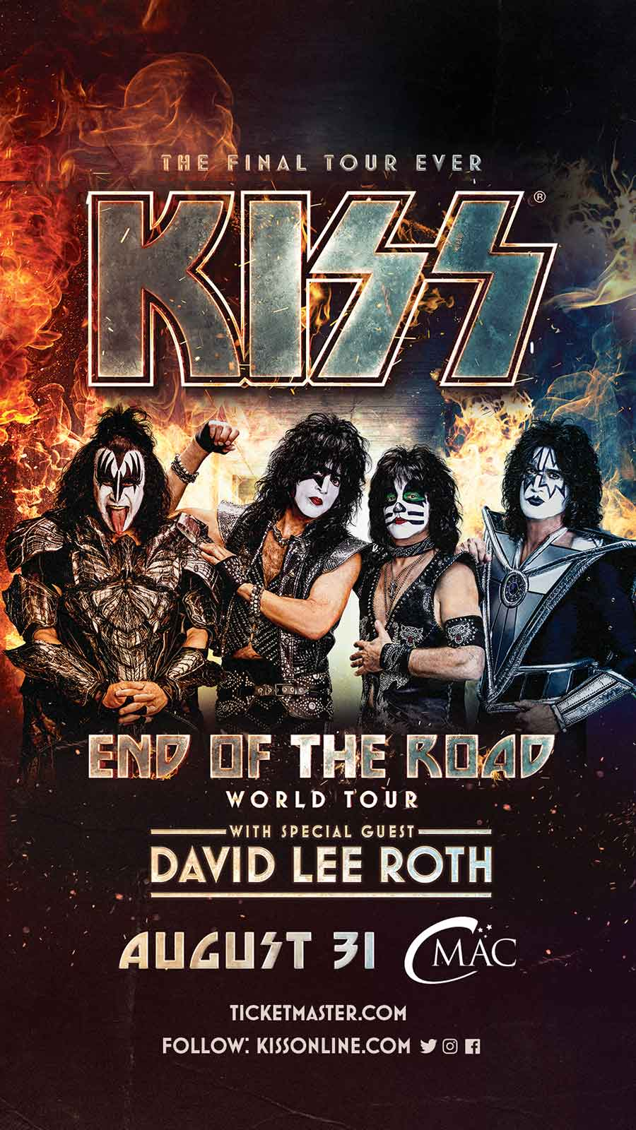 kiss the final tour band poster
