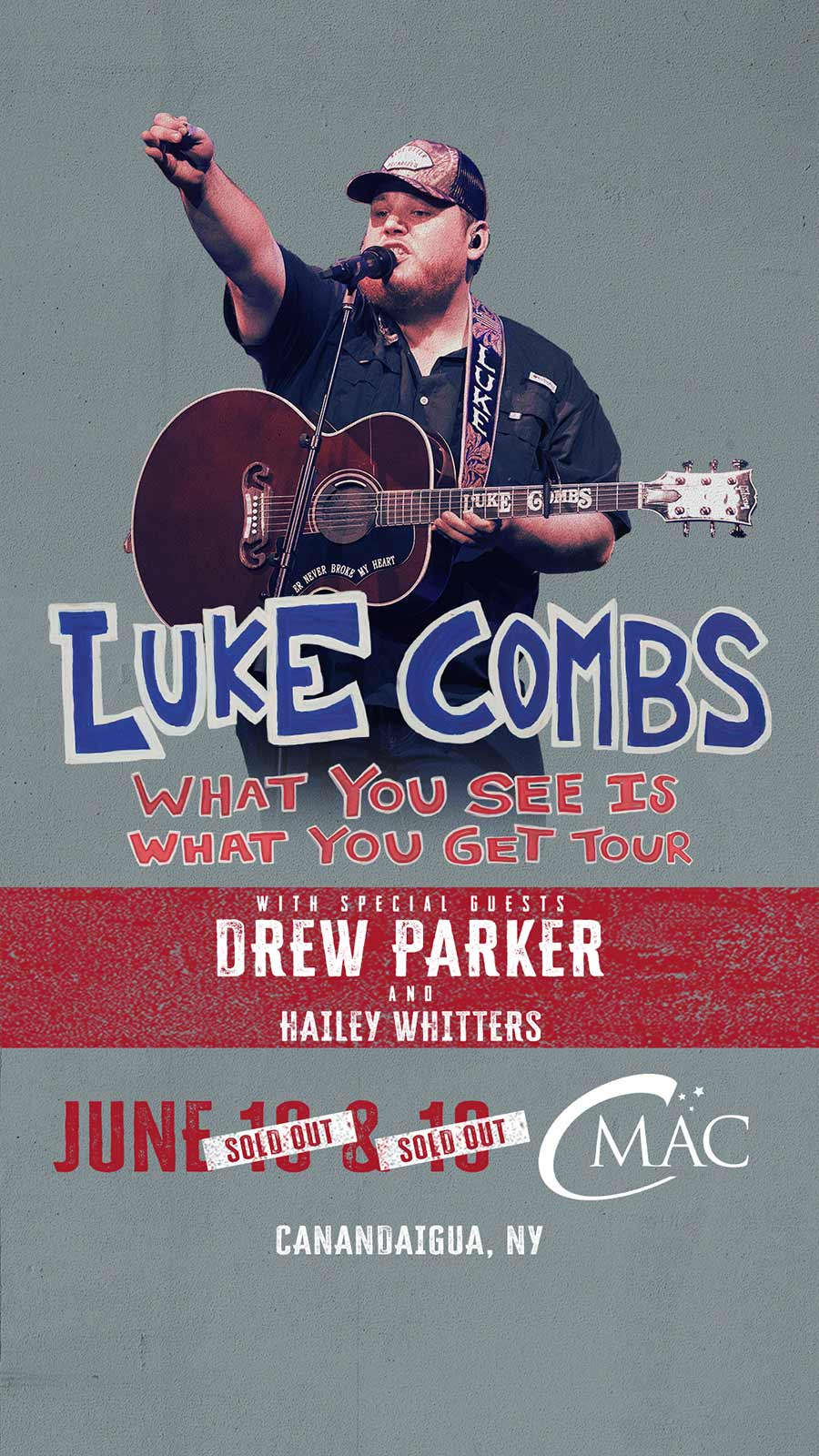 Luke Combs show announcement